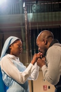 "Adrianna Mitchell and Maurice Emmanuel Parent in ""Measure for Measure."" Stratton McGrady Photography 2014"