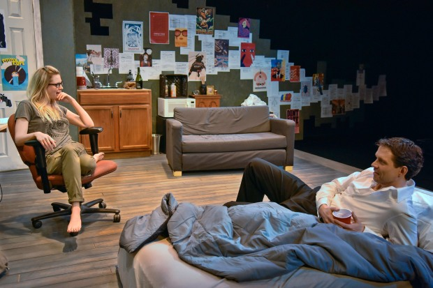 "Esem Allen and Lewis D. Wheeler in ""Muckrakers"" at the New Repertory Theatre. Photo: Andrew Brilliant/Brilliant Pictures"