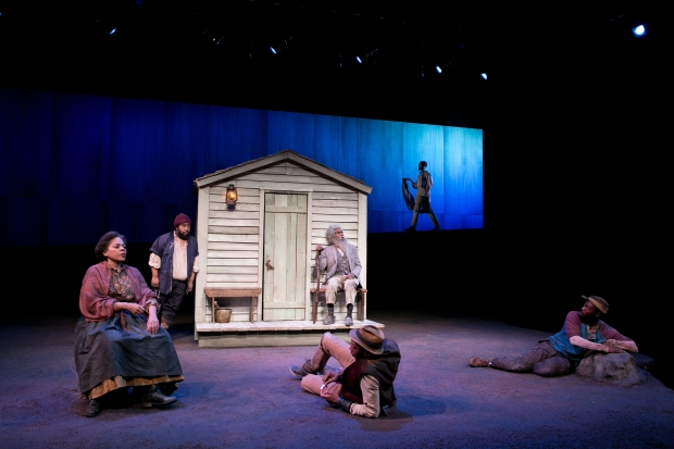"""A scene from """"Father Comes Home From The Wars, Part 1: A Measure of a Man"""" at the American Repertory Theater. Photo: Evgenia Eliseeva"""