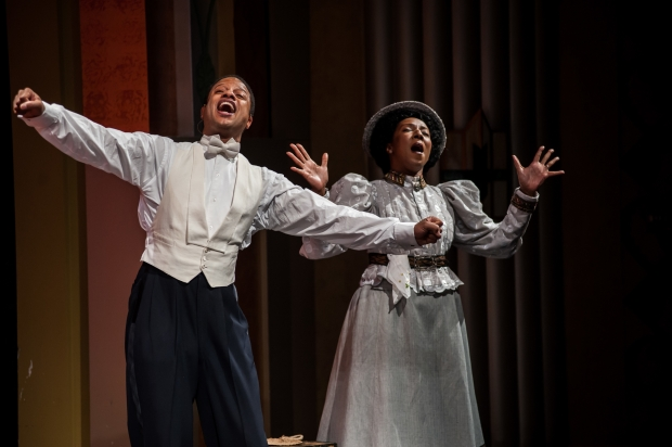 "Elijah Rock as Roland Hayes and Harriett D. Foy as Angel Mo' in Daniel Beaty's ""Breath & Imagination."" Mike Ritter/Ritterbin Photography"