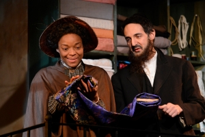 """Lindsey McWhorter and Nael Nacer in """"Intimate Apparel."""" Photo: Phil Perry"""