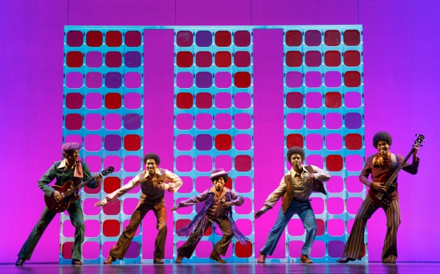"The Jackson Five are portrayed in the national touring production of ""Motown: The Musical"" at the Boston Opera House. Photo copyright Joan Marcus 2014"
