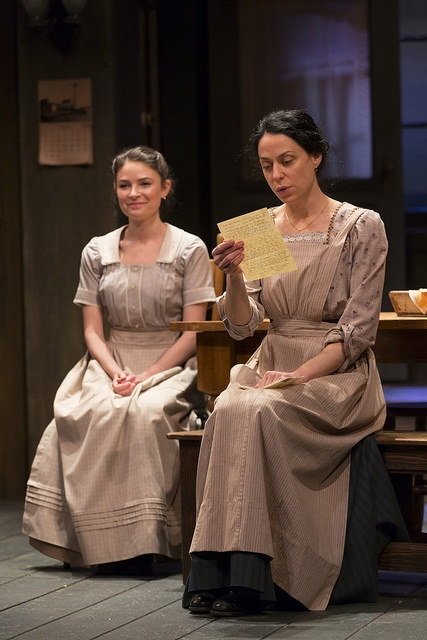 MacKenzie Meehan and Kathleen McElfresh in the Huntington Theatre Company production of the moving Irish drama The Second Girl by Ronan Noone, directed by Campbell Scott, playing January 16 – February 21, 2015 at the South End/Calderwood Pavilion at the BCA. Photo: T. Charles Erickson
