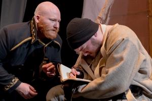 "Samuel Frank and Chris Chiampa in ""Terra Nova."" Photo: Jake Scaltetro"