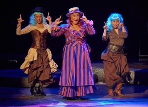 "Shana Dirik as ""Addaperle"" (center) and ensemble members Courtesy of Fiddlehead Theatre Company/©mattmckeephoto.com"