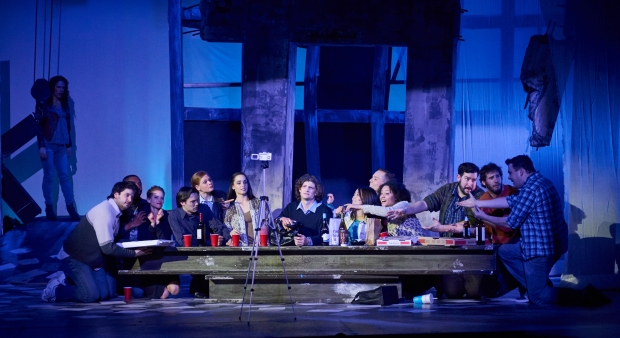 "The ensemble in The Last Supper scene in Fiddlehead Theatre Company's ""JCSuperstar."" Photo: Matt McKee"