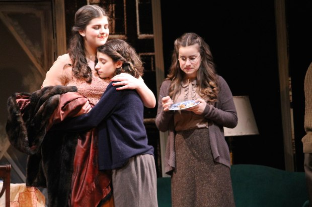 "Elle Shaheen, Zehava Younger and Isabelle Luongo in ""The Diary of Anne Frank."" Photo: Toby Schine."