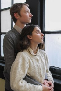 "Jake Orozco-Herrman and Zehava Younger in ""The Diary of Anne Frank."" Photo: Toby Schine"