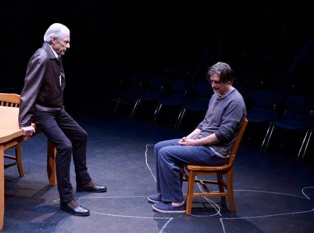 "Will Lyman and Ken Cheeseman in ""Ulysses on Bottles."" Photo: Paul Marotta"