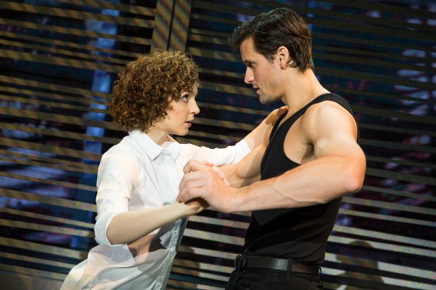 "Gillian Abbott (Baby) and Samuel Pergande (Johnny) in the North American tour of ""Dirty Dancing."" Photo by Matthew Murphy"