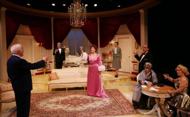 "The cast of the Lyric Stage Company production of Moss Hart's ""Light Up The Sky."" Photo: Mark S. Howard"