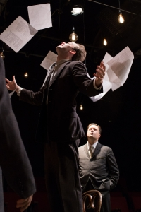 "Chris Larson and Michael Fisher in ""The Farnsworth Invention."" Linday Eagle/Flat Earth Theatre"