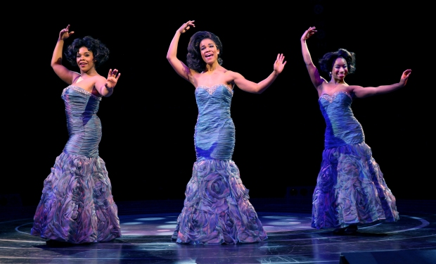 The Dreams, Bryonha Marie Param (Effie), Britney Coleman (Deena), and Destinee Rea (Lorrelll) in North Shore Music Theatre's production of Dreamgirls running June 2 - 14, 2015. Photo©Paul Lyden