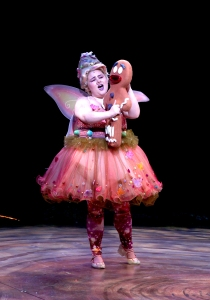 Katy Geraghty as Sugar Plum Fairy & Gingy in SHREK THE MUSICAL playing a North Shore Music Theatre from July 7 - July 19, 2015. Photo © Paul Lyden