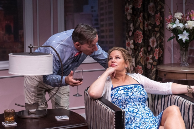 "Alexanfer Cook and Jennifer Coolidge in the Nora Theatre Company's ""Saving Kitty."" Photo: A.R. Sinclair Photography"