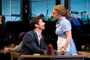 "Drew Gehling and Jessie Mueller in a scene from ""Waitress."" Photo: Evgenia Eliseeva."