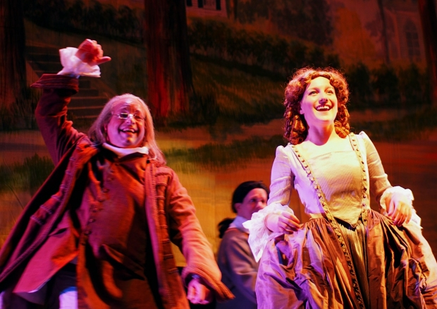 "Doug Jabara and Erin McMillen in the Company Theatre's production of ""1776."" Photo: Zoe Bradford"