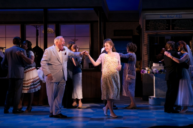 "Dakin Matthews and Jessie Mueller in s scene from the American Repertory Theatre production of ""Waitress."" Photo: Evgenia Eliseeva."
