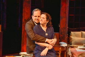 "Ben Evett and Eve Passeltiner in New Rep's ""Broken Glass."" Andrew Brilliant/Brilliant Pictures"
