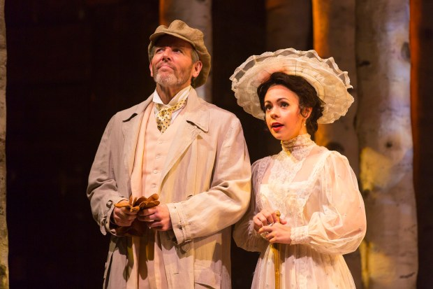 Stephen Bogardus as Fredrik Egerman and Morgan Kirner as Anne Egerman in A Little Night Music. Photo by T. Charles Erickson.
