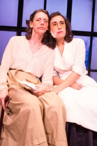 "Erin Eva Butcher and Kathleen C. Lewis at ""Radium Girls."" Photo: Jake Scaltetro"