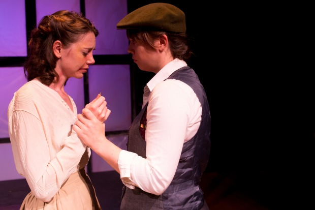 "Erin Eva Butcher and Katharine Daly in Flat Eartth Theatre's production of ""Radium Girls."" Photo: Jake Scaltreto"