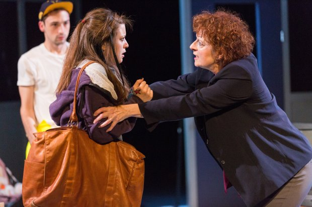 "Luke Murtha, Marie DeCotis and Paula Plum in Stoneham Theatre's ""Luna Gale."" Nile Hawver/Nile Scott Shots."