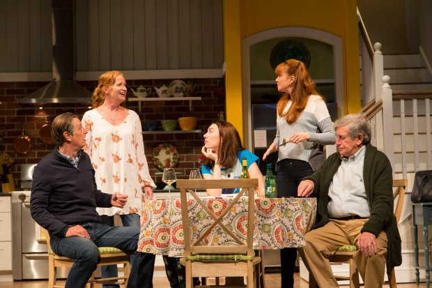 "The cast of the Huntington Theatre Company's production of  Winnie Holzman's ""Choice"" at the Calderwood Pavilion of the Boston Center for the Arts. Photo by T. Charles Erickson."