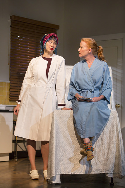 Madeline Wise and Johanna Day in Choice at the Huntington Theatre Company, directed by Sheryl Kaller, written by Winnie Holzman, playing October 16 – November 15, 2015, South End/Calderwood Pavilion at the BCA. Photo: T. Charles Erickson.