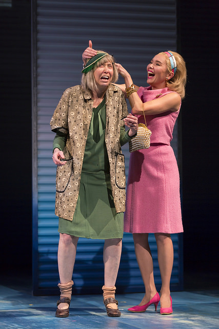 Julie Halston as Miss Trixie and Stacey Yen as Mrs. Levy in A Confederacy of Duncesat the Huntington Theatre Company, by Jeffrey Hatcher, based on the Pulitzer Prize-winning novel by John Kennedy Toole, directed by David Esbjornson, playing November 11 – December 20, Avenue of the Arts/BU Theatre. Photo: T. Charles Erickson.