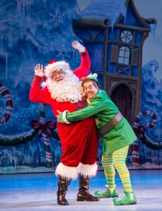 "JB Adams and Eric Petersen in ""Elf."" Photo by Amy Boyle."