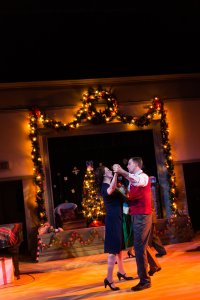 "Meredith Stypinski, Mark Linehan in ""Christmas on the Air."" Photo: Photos: Nile Hawver/Nile Scott Shots"