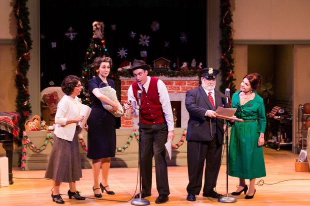 "Meryl Galaid, Meredith Stypinski, Mark Linehan, William Gardiner, and Margaret Ann Brady in ""Christmas on the Air.""  Photo: Photos: Nile Hawver/Nile Scott Shots"