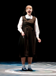 Lael Van Keuren as Sister Mary Robert in the cast of SISTER ACT at North Shore Music Theatre from November 3 - November 15, 2015. Photos©Paul Lyden