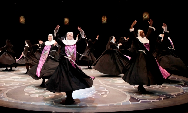 "The ensemble in ""Sister Act"" at the North Shore Music Theatre. Photo: Paul Lyden"