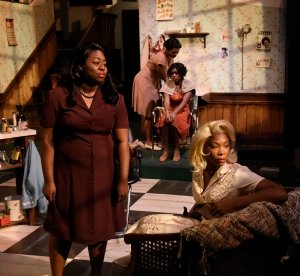 "Meagan Dilworth, Jasmine Rush, Tasia A Jones, and Cloteal L Horne in ""Saturday Night, Sunday Morning."" Photo: Glenn Perry"
