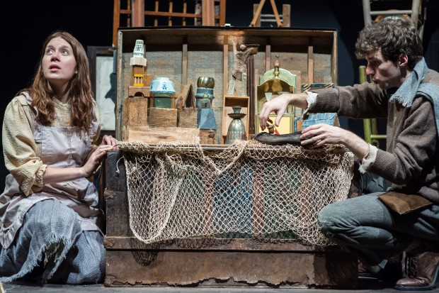 "Eliza Rose Fichter and David Keohane in ""Matchless."" (Courtesy A.R. Sinclair Photography/Central Square Theater)"