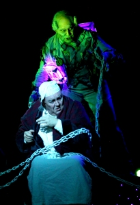 "Freddie Kimmel and Daviod Coffee in ""A Christmas Carol."" Photo: Paul Lyden."