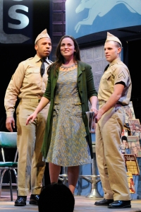 "Dan Belnavis, Alison McCartan and Nile Scott Hawyer in ""Violet."" Photo:Glenn Perry Photography/SpeakEasy Stage Company)"