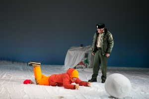 Mark Rylance and Bob Davis in Nice Fish. Photo: Evgenia Eliseeva