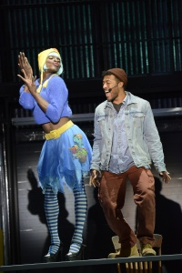 """Jay Kelley as Angel and John Devereaux as  Tom Collins in """"Rent."""" Photo courtesy Fiddlehead Theatre Company  copyright Eric Antoniou."""