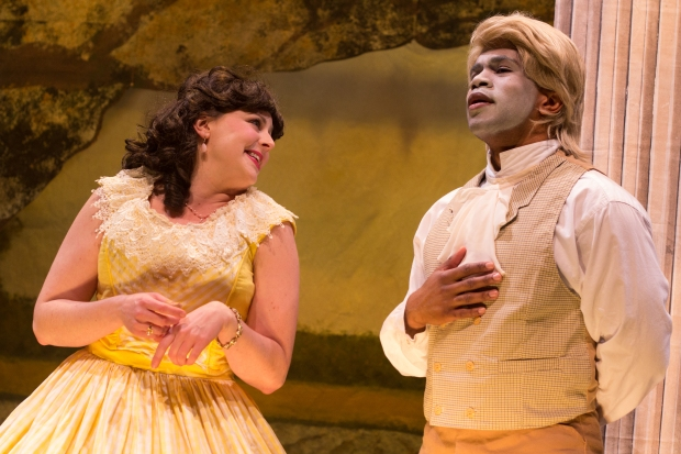 BRIDGETTE HAYES AND BRANDON GREEN IN AN OCTOROON Photo Credit: Paul Fox