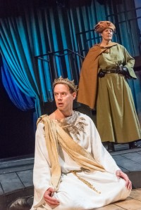 "Doug Lockwood as Richard II and Paula Plum as the Duke of Aumerle in ""Richard II."" Stratton McCrady photo"