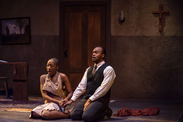 "Adobuere Ebiama & Maurice Emmanuel Parent in ""The Convert."" Photo: A.R. Sinclair Photography."