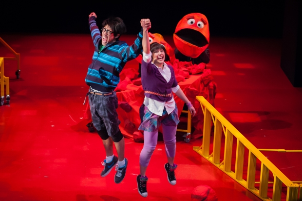 "Sasha Diamon and Alton Alburo in ""The Wong Kids in the Secret of the Space Chupacabra Go!"" Credit: Dan Norman"