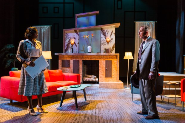 "Jasmine Rush and  Alexander Cook in the Stoneham Theatre's ""Laura."" Nile Hawver/Nile Scott Shots."