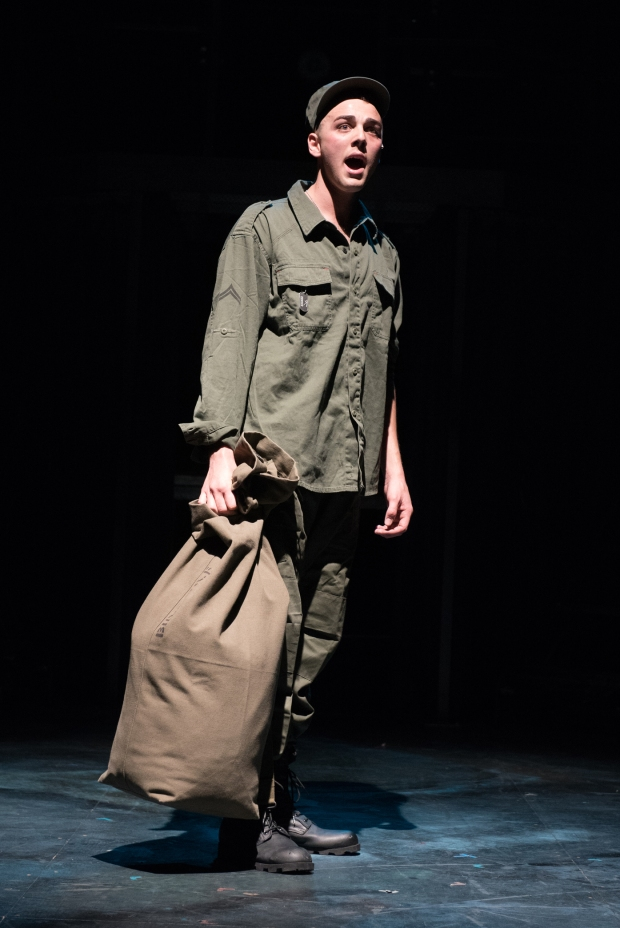 "Jordan J. Ford as Eddie Birdlace in ""Dogfight."" Glen Perry Photography."