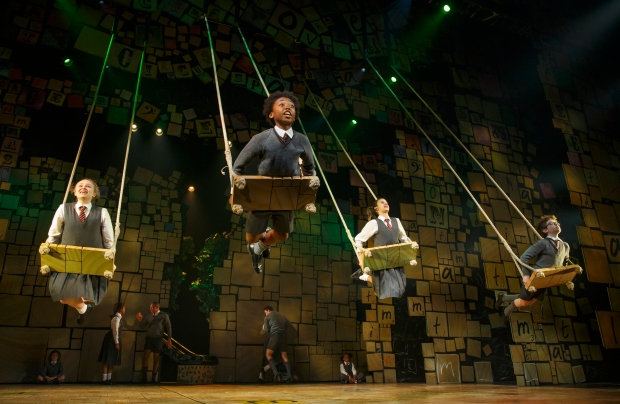 "The company of ""Matilda, the Musical"" performs ""When I Grow Up."" Photo: Joan Marcus."