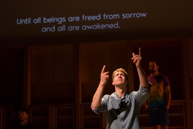 "Russell Harvard in ""I Was Most Alive with You"" at the Huntington Theatre Company; photo: T. Charles Erickson"