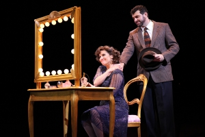 Shoshana Bean (Fanny Brice) and Bradley Dean (Nick Arnstein) in North Shore Music Theatre's production of FUNNY GIRL playing thru June 19, 2016. Photo © Paul Lyden